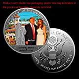 cicianco 1Pcs Silver Coin Obama Donald Trump Hillary Michael Jackson Coin The Statue of Liberty Metal Coin Collection TIT Craft Decor,Color 3