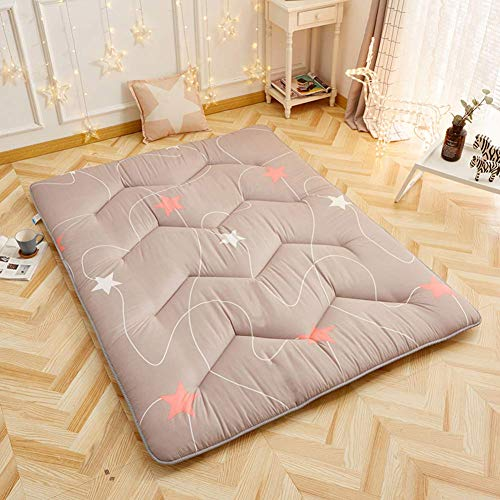 ZGYZ Single Mattress Pad, Floor mat Thick Soft Comfort Folding Bedroom Living room Sleeping Futon Bed roll-B 90x200x5cm