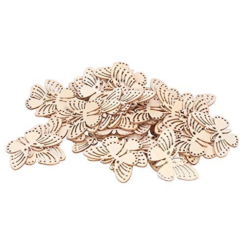 Mariposas de madera, tablero de partículas de alta calidad práctico para usar mano de obra fina Decoración de bricolaje Mariposas Botón de madera para ropa para decoración de la casa