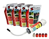 TireJect Off-Road Flat Tire Protection Kit with Sealant Injector (40oz Standard ATV/SxS Kit)
