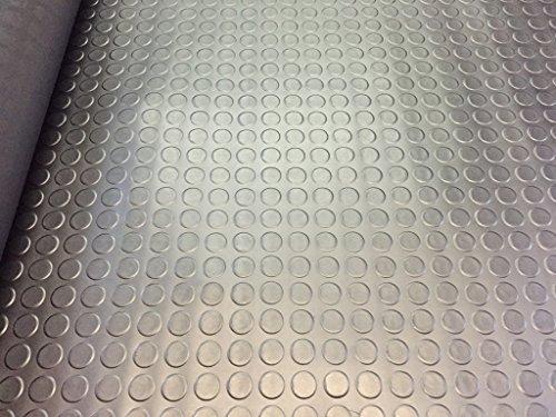 Penny/Ohrstecker/Coin Stil Gummi Garage Bodenbelag rutschfeste Matten–6m x 1,5m x 3mm dick