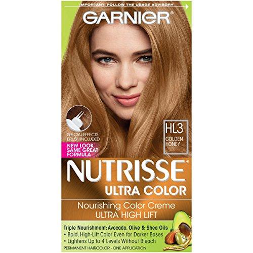 Garnier Nutrisse Ultra Color Nourishing Permanent Hair Color Cream, B3 Golden Brown (1 Kit) Brown Hair Dye (Packaging May Vary), Pack of 1