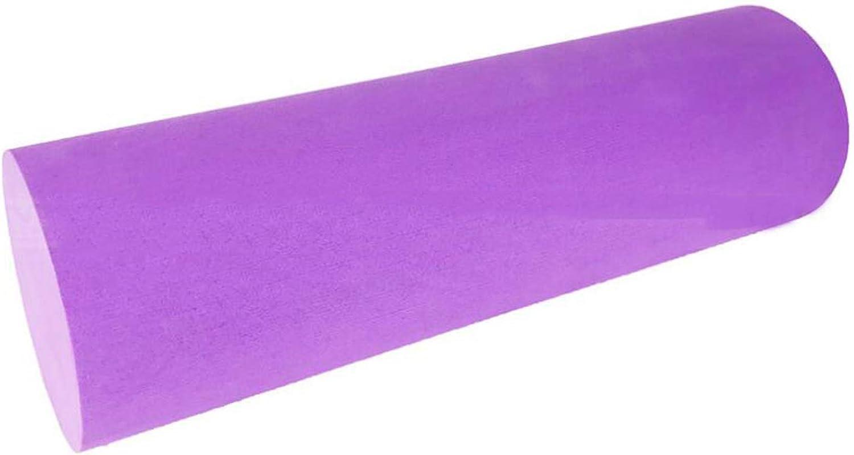 Fitness Foam Roller Yoga Column, Shaft Massage Roller Fascia Stick Pilates Indoor Activities, Purple