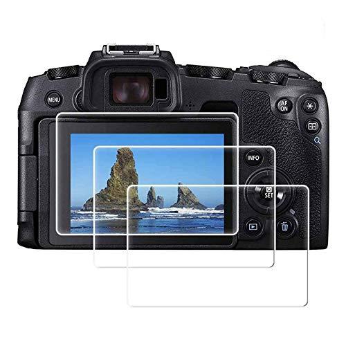 BJJH, HD Glas-Displayschutzfolie für Canon EOS RP spiegellose Digitalkamera, EOSRP optisch, Blasenfrei, Einfache Montage, gehärtetes Glas, Kratzfest, Anti-Fingerabdruck-Anti-Staub (Klar)