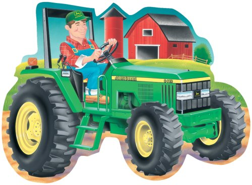 Great American Puzzle Factory John Deere Tractor Giant Shaped Floor Puzzle