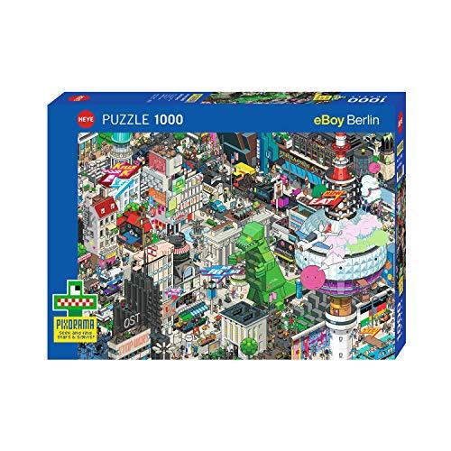 Heye HY29915 Berlin Quest, Pixorama Eboy Puzzle, Blue