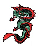 Green Dragon Japanese Yakuza Fantasy Cartoon Patch XXL Jumbo Big Logo Jacket Polo T- Shirt Backpacks Patch Stickers sew on Applique Embroidered Embroidery (09)