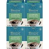 Teeccino Dandelion Tea – Mocha Mint – Rich & Roasted Herbal Tea That's Caffeine Free & Prebiotic with Detoxifying Dandelion Root, 10 Tea Bags (Pack of 4)