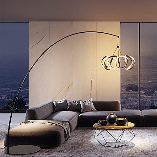 Lámpara de pie moderna con regulador, lámpara de pie de creatividad arco para sala de estar y dormitorio con control remoto (color: estilo-D)
