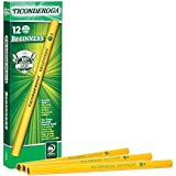 Ticonderoga - PPNE TICONDEROGA Beginner Primary Size Pencils, Wood-Cased #2 HB Soft Without Eraser, Yellow, 12-Pack (13080)