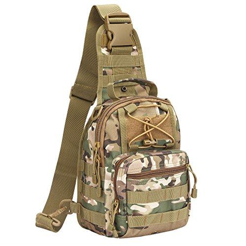 G4Free Leichte Tactical Sling Rucksack Militär Schultertasche Umhängetasche EDC Brusttasche für Outdoor Sport Camping Wandern