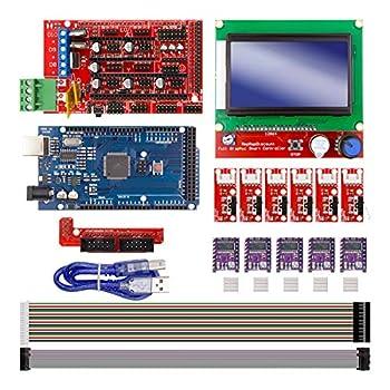 DAOKI CNC 3D Printer Kit 3D Printer for Arduino Board for Arduino + Controller Board RAMPS 1.4 + LCD 2004 + 6Pcs Limit Switch Endstop + 5 DRV8255 Stepper Driver 3D Printer Interface & Driver Modules
