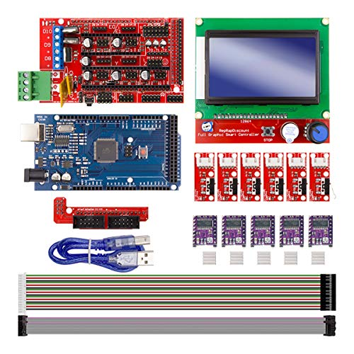 Youmile CNC 3D Printer Kit Stampante 3D Scheda per Arduino + Scheda controller RAMPS 1.4 + LCD 2004 + 6PACK Limit Switch Endstop + 5 DRV8255 Stepper Driver Interfaccia stampante 3D moduli driver