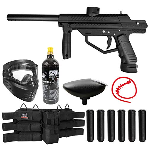 Maddog JT Stealth Semi-Automatic .68 Caliber Titanium CO2 Paintball Gun Starter Package - Black