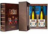 CAMINO DE CABRAS Estuche regalo - vino blanco - Godello D.O. Valdeorras - Vino Premium - 2 botellas x 75cl - Producto Gourmet - Vino bueno para regalo - Alcohol 13% vol