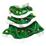 Balacoo - Disfraz de árbol de Navidad para Mascotas, para Perro, Navidad, Disfraz, Cosplay, Ropa, Abrigos, Ropa para Cachorro, Perro pequeño, Gato (Verde) Talla S