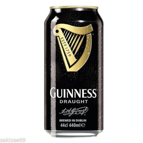 Guinness Irisches Bier, Draught - Stout (12 x 0,44l) inkl. 3,00€ Pfand EINWEG