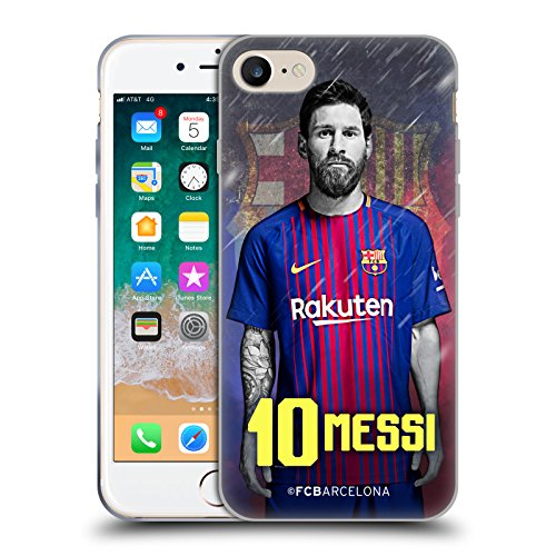 Head Case Designs Oficial FC Barcelona Lionel Messi 2017/18 First Team Group 1 Carcasa de Gel de Silicona Compatible con Apple iPhone 7 / iPhone 8 / iPhone SE 2020