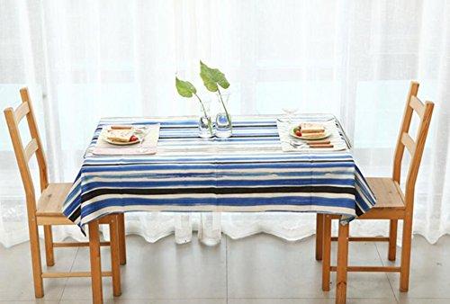 ZWL Nappe, Pique-Nique Couverture Tissu Lin Nappe Nappe Table Nappe Salon Nappe Restaurant Nappe Nappe Nappe Bleue 110-230cm , Ajoutez de la vitalité à la cuisine ( taille : 110x110cm )