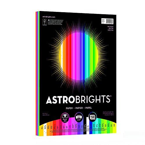 "Astrobrights Color Paper, 8.5"" x 11"", 24 lb/89 gsm,""Spectrum"" 25-Color Assortment, 150 Sheets (80933-01) -  Neenah Paper (OP)"