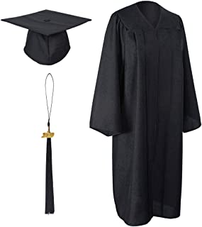 GraduationForYou Unisex Adult Matte Graduation Gown Cap With Tassel 2019