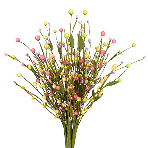 6 pcs Spring Berry Stems, Artificial Berry Picks Easter Stems for Home Centerpiece Vase Windowsill Decor and Easter Celebration,Suitable for All Seasons