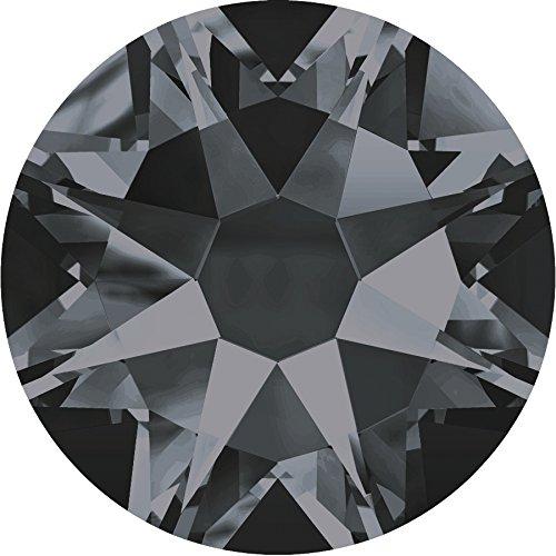100 Stück SWAROVSKI ELEMENTS 2088 XIRIUS KEIN Hotfix, Crystal Silver Night, SS16 (Ø ca. 4 mm), Strasssteine zum Aufkleben