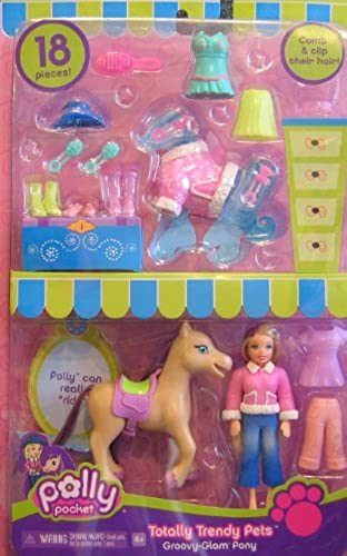 40% de descuento Polly Pocket Totally Totally Totally Trendy Pets Groovy Glam PONY 18 Pieces  w POLLY Doll (2006) by Polly Pocket  nuevo sádico