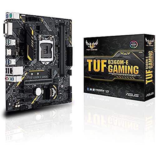 Asus Tuf B360M-E Gaming Mainboard Sockel 1151 (mATX, Intel B360, DDR4, M.2, Intel-Optane-Speicherunterstützung, USB 3.1 Gen 2, Aura Sync)