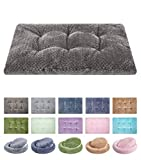 Fuzzy Deluxe Pet Beds, Super Plush Dog or Cat Beds Ideal for Dog Crates, Machine Wash & Dryer Friendly (15