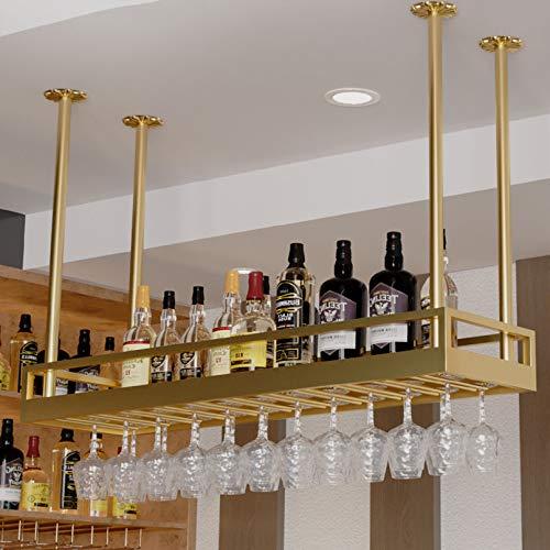 Casiers à bouteille Étagère à vin Casier à vin en Fer fixé au Mur, Hauteur réglable, Porte-Bouteille de vin Suspendu au Plafond, étagère à Champagne en Verre, décoration de Bar, Supports de décorat