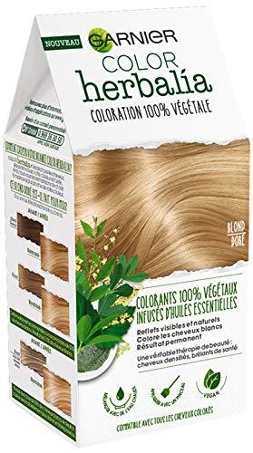 Garnier Coloration 100% vegetale blond dore - Color Herbalia - Poudre colorante (80 g) et Baume nourrissant (60 ml)
