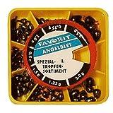 Fishing-One FO Tropfenblei Sortiment Natur 0,5-2,5g; 76 Stk.