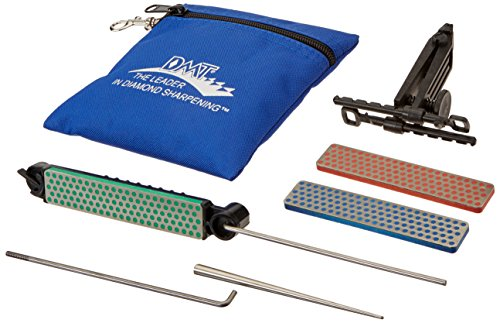 MTD DMTADELUXE Kit DMT Deluxe Aligner, 3 pietre per affilare diamantate/1 affilatore per lame seghettate, 1 pezzo, ADELUXE, Plastic, Multicolore