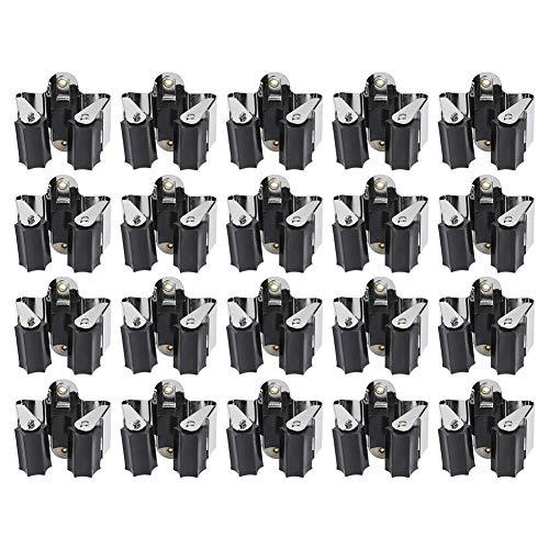 3-H Gerätehalter Schaufelhalter hochwertiger Besenhalter Wandhalterung optimale Aufbewahrung aller Geräte - Gartengerätehalter - Haushaltsgeräte - Werkzeug(20er Stück)