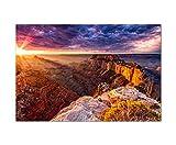120x80cm - Fotodruck auf Leinwand und Rahmen Grand Canyon