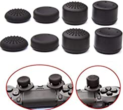 Pack of 8 pcs Analog Controller Gamepad Raised Antislip Thumb Stick Grips Thumbsticks Joystick Cap Cover for PS4, PS3, Switch Pro, Xbox one, Xbox 360, Wii U, PS2 Controller (Black)