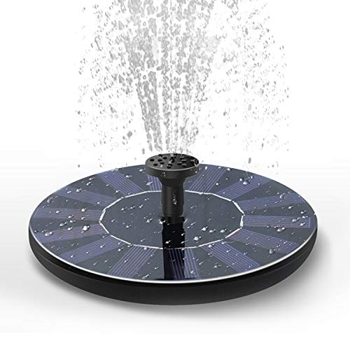 Solar Fountain Water Pump for Bird Bath, New Upgraded Mini Solar Powered Fountain Pump 1.5W Free Standing Solar Panel Kit Water Fountain for Garden, Pond, Pool, and Outdoor