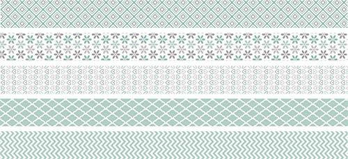 Heyda 203584571 Pastel Mini Rouleau de ruban adhésif décoratif Menthe 12 mm x 3 m