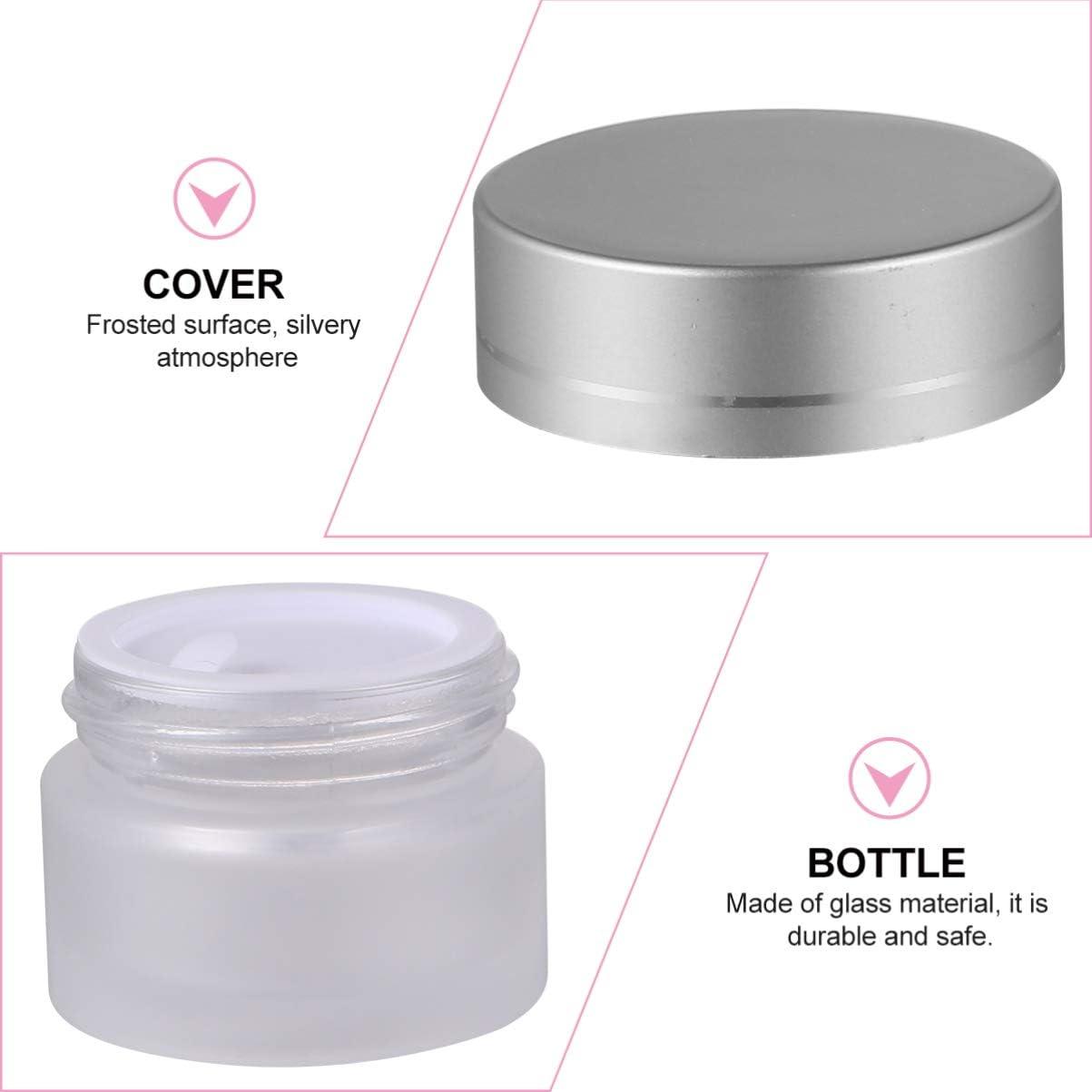 VALICLUD 6 Piezas de Envases de Vidrio Vac/íos para Cosm/éticos Frascos de Muestra Transparentes Peque/ñas Jarras de Maquillaje para Viajes con Tapas para Cremas de T/óner de Aceite B/álsamo