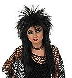 Fun Shack Negro Glam Rock Peluca para Hombres y Mujeres - Un Tamaño