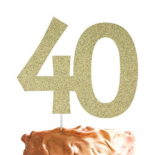 LissieLou Décoration de gâteau d'anniversaire 40 ans - Numéro 40