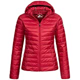 JOTT CLO down jacket cloe with long sleeve, Red, XS para Mujer