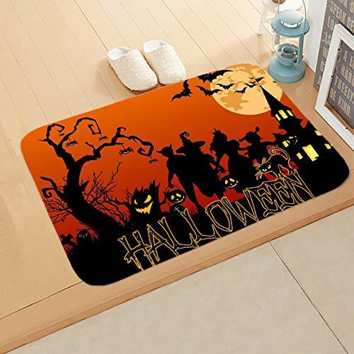 U/A Halloween Non-slip mat Pumpkin Bat Entrance Mat Kitchen Bathroom Floor Mat Door Mat 40 * 60CM