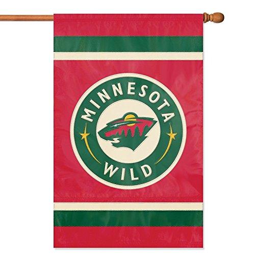 NHL 2-Sided Appliqué Banner Flag, Minnesota Wild