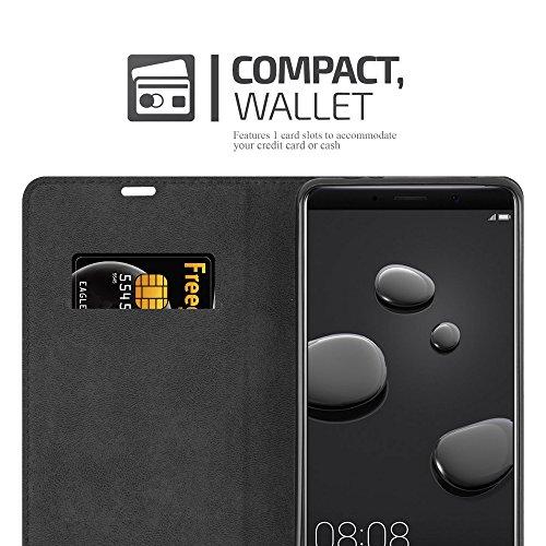 Cadorabo Hülle für Huawei Mate 10 - Hülle in Kaffee BRAUN – Handyhülle mit Magnetverschluss, Standfunktion und Kartenfach - Case Cover Schutzhülle Etui Tasche Book Klapp Style - 4