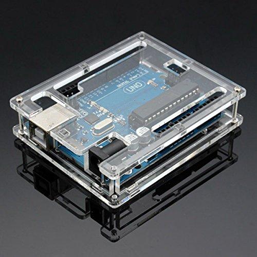 Youmile Uno R3-Gehäuse Neue transparente Computer-Box aus glänzendem Acryl, kompatibel mit Arduino UNO R3