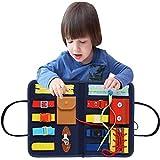 Lernen Montessori Busy Board Spielzeug, Montessori Baby Lernbretter, Essential Educational Sensory Board Lernfilz Panel Mit Reißverschluss, Knopf, Schnalle Für Kleinkinder 1-6 Jahre Alt, 32x28x22,6cm