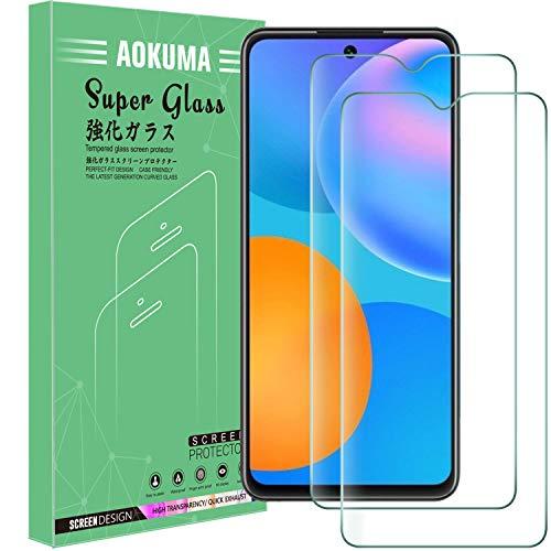 AOKUMA Cristal Templado Huawei P Smart 2021, [2 Unidades] Protector Pantalla para Huawei P Smart 2021 Robusto Antiarañazos Antihuellas con Borde Redondeado Dureza 9H+ Antiburbujas