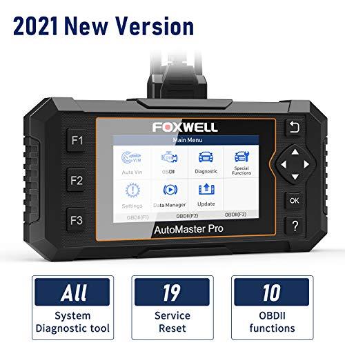 FOXWELL NT644 Elite OBD2 Scanner Diagnostic Car Scanner for All Carsamp All Systems Code Reader with 19 Reset Service Automotive Scanner for ABS SRS Air Bag Check Engine Oil Light Brake Sensor Reset